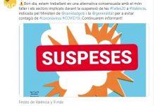 """L'Ajuntament treballa en una alternativa """"consensuada"""" amb el món faller davant la suspensió de la festa"""