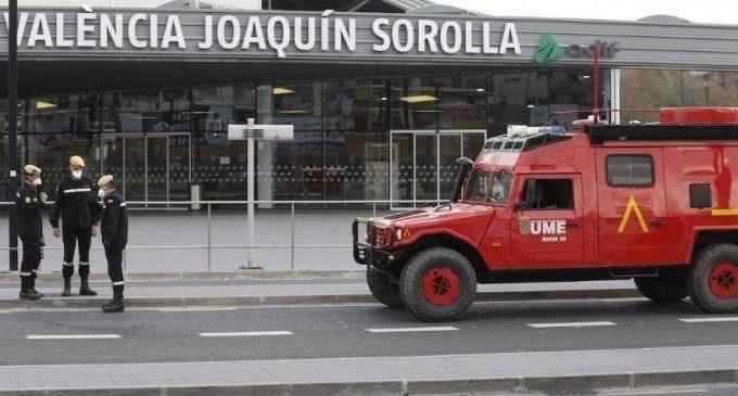 Más de 1.000 militares recorren ya las calles de España, 110 de ellos en Valencia