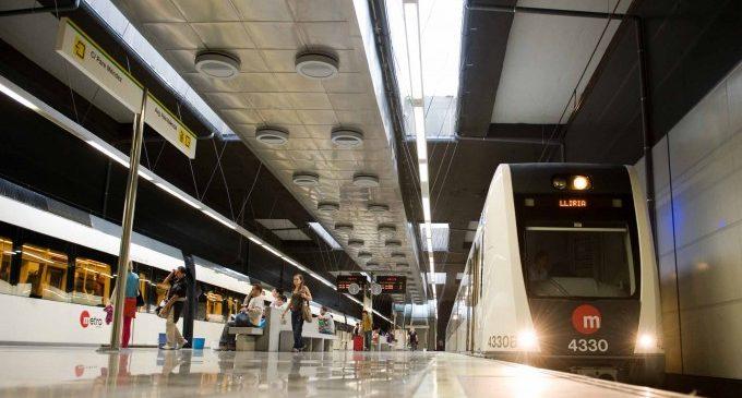 El uso de Metrovalencia y TRAM cae un 80% en la primera jornada laboral tras la declaración de la alarma
