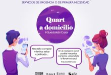 L'Ajuntament de Quart de Poblet i ACQ preparen un llistat de comerços locals oberts i amb repartiment a domicili