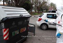 L'Ajuntament ha realitzat més de 70 000 desinfeccions de contenidors i 50 000 de papereres en tota la ciutat i els pobles de València