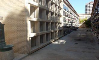 Concluyen las obras para ampliar la oferta de nichos sencillos en el cementerio municipal de Campanar