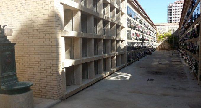 Conclouen les obres per ampliar l'oferta de nínxols senzills al cementeri municipal de Campanar