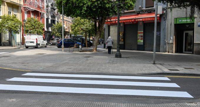 Mobilitat Sostenible millora la fluïdesa de set encreuaments de València mitjançant la supressió de semàfors