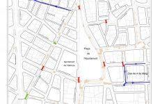 Informació sobre les afeccions puntuals a la circulació durant les obres de conversió en zona de vianants a la plaça de l'Ajuntament i el seu entorn