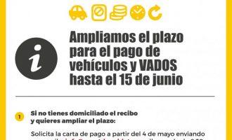 El Ayuntamiento de Quart de Poblet amplía el plazo para el pago de vehículos y VADOS hasta el 15 de junio