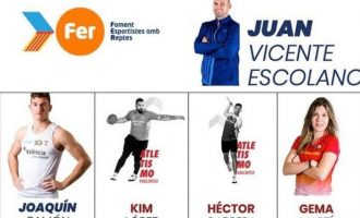 Cuatro atletas y su entrenador de la escuela del club de córrer El Garbí han sido becados en el proyecto Foment Esportistes amb Reptes