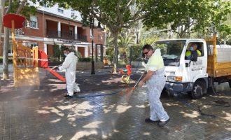 Aldaia redistribueix els recursos tècnics i humans per a reforçar les tasques de neteja i desinfecció