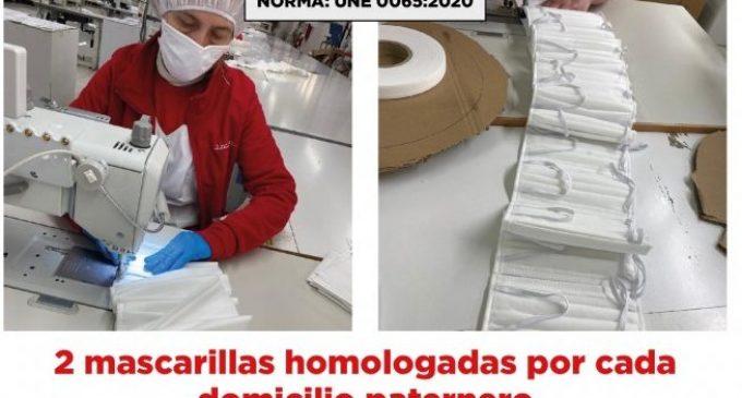 Paterna adquireix 150.000 mascaretes homologades reutilitzables per als seus veïns