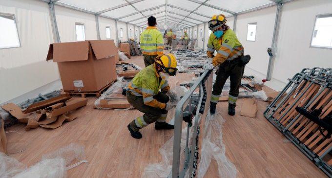 S'ultimen els treballs a l'hospital de campanya annex a la Fe de Valenciana
