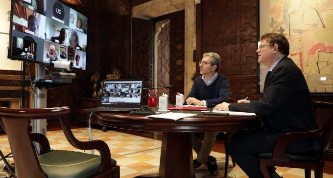 Puig es reuneix amb experts per a avançar en el disseny d'actuacions futures davant la Covid-19