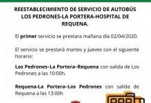 Requena conecta las aldeas de Los Pedrones y La Portera con el hospital durante la cuarentena