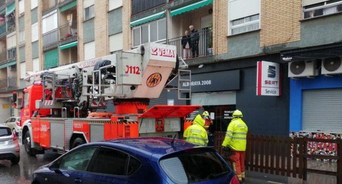 Rescaten a una dona que es va quedar atrapada al seu balcó a Alboraia