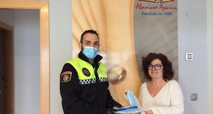 L'Ajuntament d'Aldaia reparteix 4.000 mascaretes entre les empreses del municipi