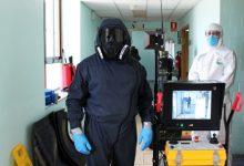 L'Exèrcit de Terra realitza proves de desinfecció amb el robot Àtila a l'Hospital General de València