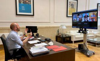 Alcaldes i alcaldesses de la comarca Requena-Utiel coordinen amb el president de la Diputació la gestió davant la crisi de la COVID-19