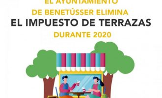 L'Ajuntament de Benetússer elimina l'impost de terrasses durant tot l'any