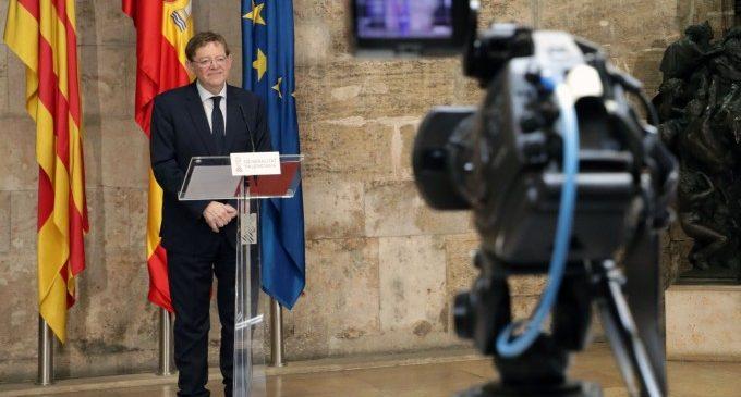 Ximo Puig avança que la Comunitat rebrà 377 milions per a l'Ingrés Mínim Vital que beneficiarà a 280.000 valencians, dels quals 82.000 són menors