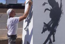 Jose Basilovich ha restaurat artísticament la bàscula municipal d'Almàssera