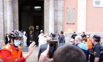 S'estudiarà si l'Arquebisbat s'ha saltat les normes de l'estat d'alarma per traure la Mare de Déu de la Basílica