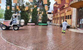 Aldaia manté el reforç de la neteja i desinfecció dels carrers de dilluns a diumenge