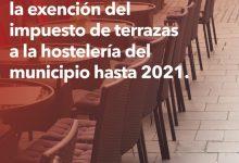 Massamagrell aprova l'exempció de l'impost de terrasses fins a 2021