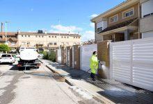 Continúa la limpieza y desinfección masiva en Paiporta con actuaciones en 105 calles en la última semana