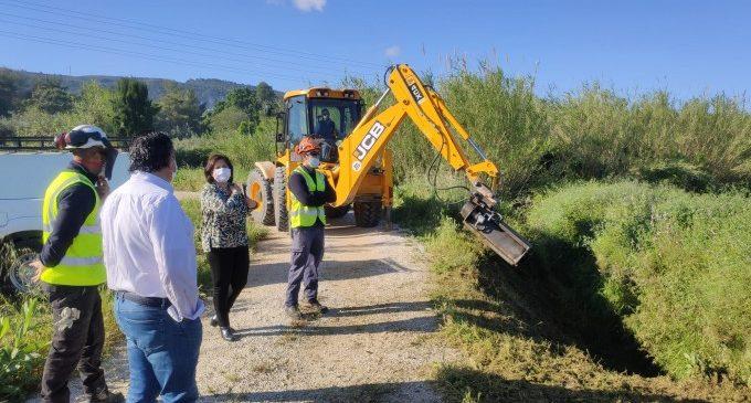 Agricultura inicia els treballs per reparar les sèquies afectades per la DANA a Ontinyent
