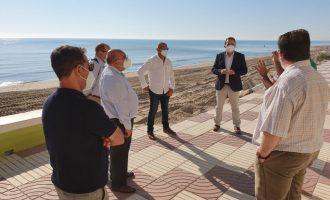 Demarcació de Costes visita el passeig marítim de Sueca per a concretar com es desenvoluparan les imminents obres de restauració