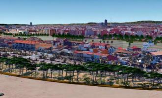 El futuro paseo marítimo de València cambiará el asfalto por vegetación