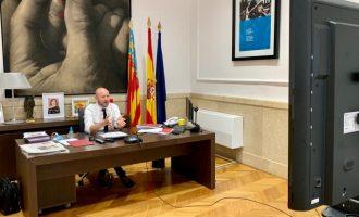 Alcaldes i alcaldesses del Camp de Túria coordinen amb el president de la Diputació la gestió davant la crisi de la COVID-19
