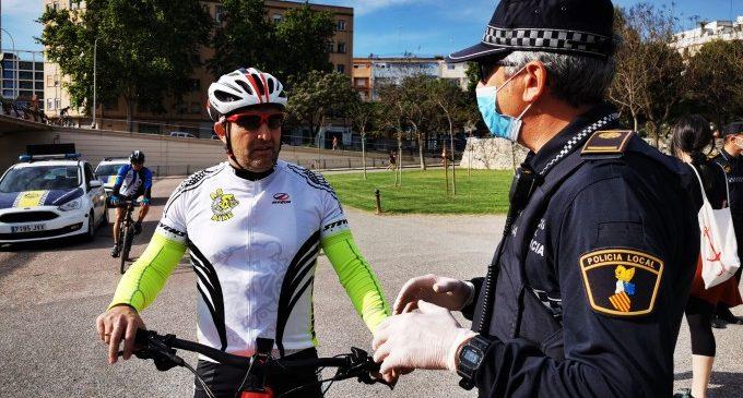 La Policía Local de València establece un dispositivo para garantizar la seguridad en la Fase 1