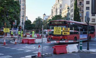 Les obres del col·lector de la Gran Via Marqués del Túria finalitzaran en Germanies a finals de juny