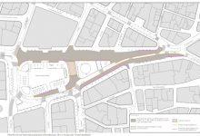 El nuevo asfaltado de la plaza del Ayuntamiento recuperará el adoquín original en la zona de la falla municipal