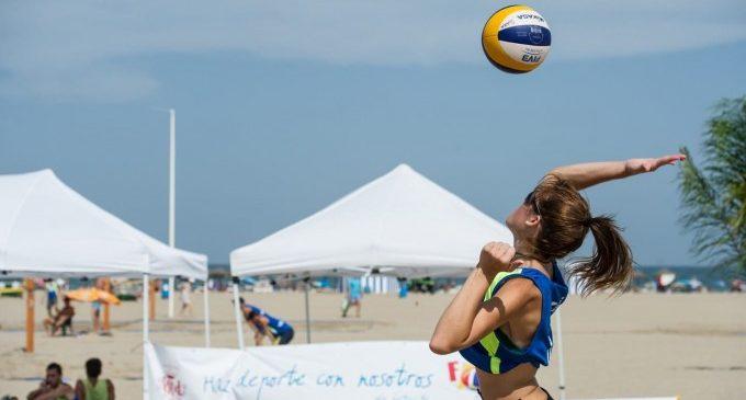 El vóley playa regresa este sábado 20 de junio a la playa de la Malvarrosa