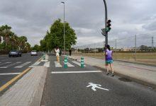 Movilidad Sostenible peatonaliza el carril EMT inutilizado de Germans Machado