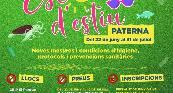 Paterna obri el termini d'inscripció de la seua Escola d'Estiu que comença el 22 de juny