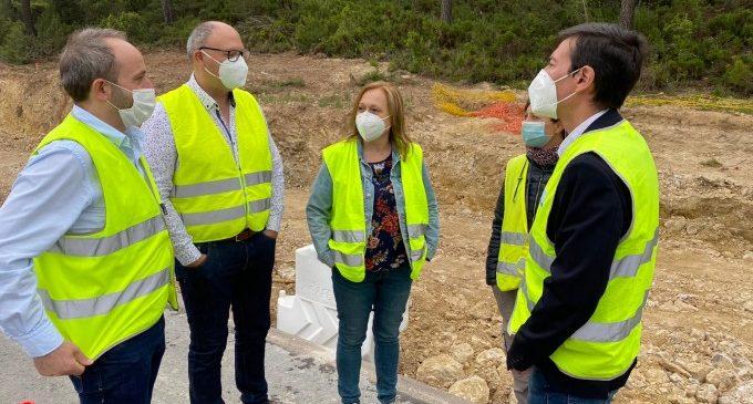 La Diputació finalitza l'excavació de 6 fosses amb restes de 14 víctimes de la Guerra Civil en la carretera CV-345 al seu pas per Andilla
