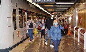 Metrovalencia aumenta en julio un 22,3% la oferta de trenes los días laborables
