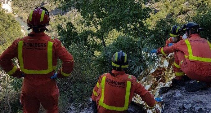 Rescatat un escalador que havia caigut quan practicava esport a Vallada