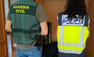 Detingut un jove per muntar una plantació de marihuana en un xalet llogat a Xiva