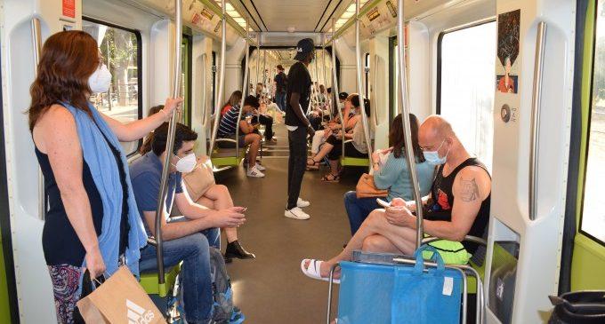 Les principals persones usuàries de Metrovalencia durant la desescalada pertanyen al sector sanitari, comerç i de la llar