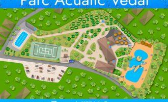 Todo a punto para bañarse en el parque acuático Parc Vedat de Torrent