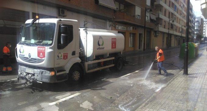 Ontinyent inicia una neteja i desinfecció de tots els carrers del nucli urbà