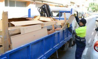 Paiporta estrena un nou sistema de recollida de mobles i trastos per zones