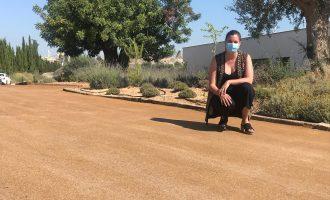 València utiliza, por primera vez, pavimento ecológico en la nueva plaza Pintor Segrelles