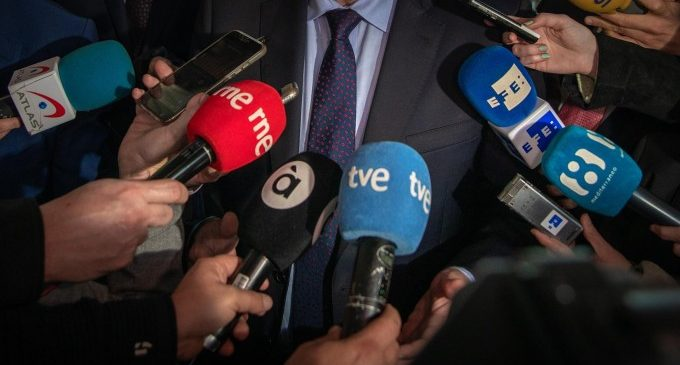 Una concentració de i per a les periodistes