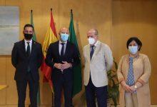 Toni Gaspar realiza una visita institucional a la Diputación y el Ayuntamiento de Sevilla