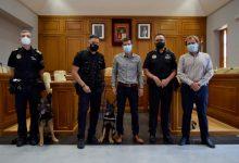 La Policía Local de Burjassot presenta a Boss y Ares, los dos nuevos perros policía de la plantilla