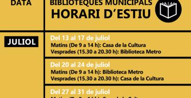 Les biblioteques de Torrent presenten les seues propostes i activitats literàries per a aquest estiu